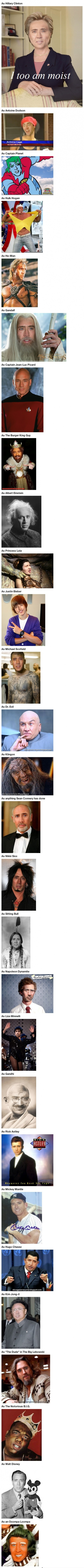 Nicolas Cage pode ser quem ele quiser! uheaoiueahiuae