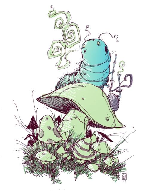skottie-young-fan-art-illustration-of-the-hookah-smoking-caterpillar-from-alice-in-wonderland (1)