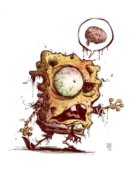 Spongebob-zombie-color
